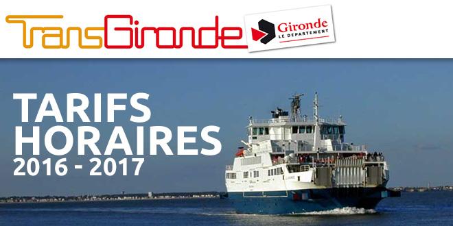 BACS : Tarifs et horaires 2016-2017