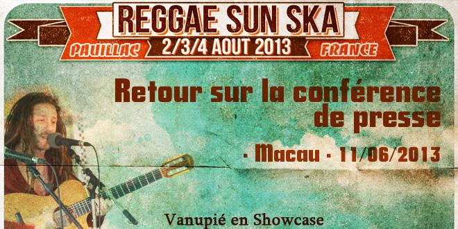Conférence de presse : Reggae Sun Ska 2013