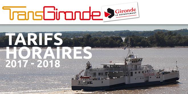 BACS : Tarifs et horaires 2017-2018