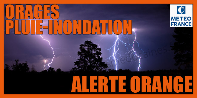 alerte orage & pluie-inondation : orange