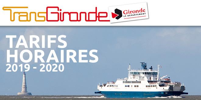 BACS : Tarifs et horaires 2019-2020